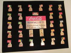 SOCCER WORLD CUP COCA COLA PINS COMPLETE 27 PIECE SET ON CARD  | eBay