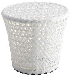 White Twisty Stool For Indoor Decoration Design ~ http://www.lookmyhomes.com/find-the-uniqueness-of-twisty-stool-for-indoor-decoration/