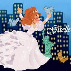 This is My drawing of princess Giselle from Disney Enchanted! It's based on Rapunzel's wall paintings Giselle wall painting Cinderella Disney, Disney Princess Art, Disney Fan Art, Disney Love, Walt Disney, Princess Beauty, Disney Stuff, Enchanted Movie, Giselle Enchanted