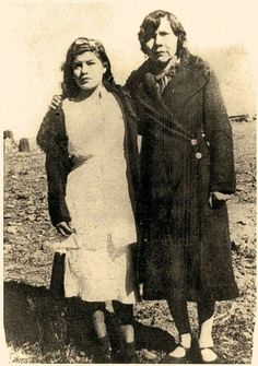 Lupe stands with her Mexican confidant, Soco, circa 1936, proving enemies could become friends. Lupe had held a lifelong hatred of Mexicans who she felt had preyed on the Apaches. Courtesy Fimbres Family, Lynda A. Sánchez Collection.