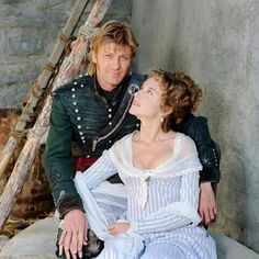Sean & third wife, Abigail Cruttenden played husband & wife on Sharpe.