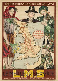 London Midland & Scottish Railway L.M.S. le meilleur service