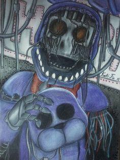 Old Bonnie by Kati-Fa on DeviantArt - - Freddy S, Fnaf Golden Freddy, Five Nights At Freddy's, Fnaf Coloring Pages, Robot Cartoon, Bts Suga, Fnaf Characters, Fnaf Sl, Fnaf Drawings