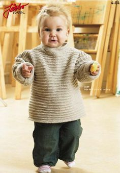 Knitting For Kids, Baby Knitting Patterns, Baby Jumper, Textiles, Free Pattern, Knit Crochet, Men Sweater, Turtle Neck, Pullover