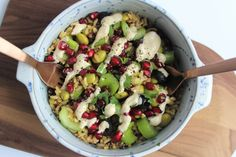 Mixed Grain, Edamame & Olive Salad - Fragata. Gluten-free, dairy-free, vegan.