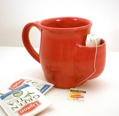 a mug with a pocket - how clever!
