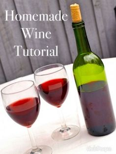 Ok, there are tons of homemade wine recipes on the internet. This is the lazy man's recipe that only requires TWO ingredients available at ANY grocery store and your wine will be ready to drink in one week or less. The taste will improve and alcohol...