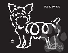 K Line Yorkshire Terrier Dog Car Window Decal Tattoo