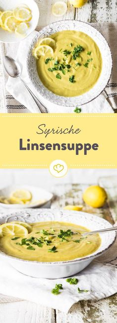 Ein Spritzer Zitrone, Kreuzkümmel und rote Linsen landen mit vielen anderen, gu… A dash of lemon, cumin and red lentils end up in the soup pot with many other good ingredients. The special highlight: oatmeal. Casserole Recipes, Soup Recipes, Vegetarian Recipes, Healthy Recipes, Lentil Recipes, Healthy Soup, Vegan Nutrition, Vegan Soups, Lentil Soup