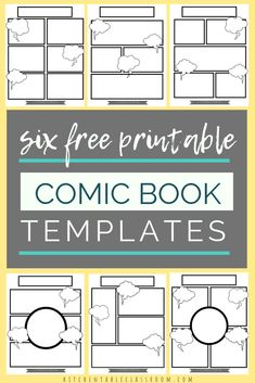 Comic Book Templates - Free Printable Pages - The Kitchen Table Classroom Writing Prompts For Kids, Kids Writing, Teaching Writing, Writing Activities, Writing Assignments, Classroom Activities, Blank Comic Book Pages, Free Comic Books, Comic Book Writing
