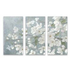Beautiful Gray Canvas Art Prints, Set of 3 | Kirklands