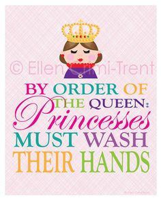 Kids Wall Art Girls Bathroom Decor By EllenCrimiTrent On Etsy, $18.00