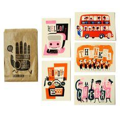 Hi Five Postcard Set  by Esther Aarts
