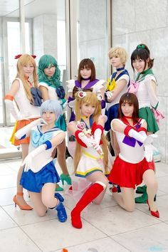 Sailor Scouts (Sailor Moon) Cosplay.