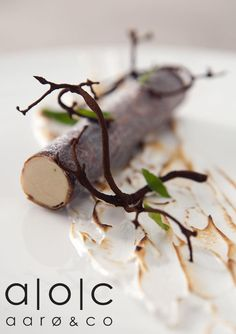 """Birch Tree"" with Malt Branches and Autumn Leaves by Ronny Emborg (Restaurant AOC) - pinned from www.bon-vivant.dk"
