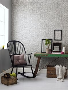 Knit-look wallpaper.  Too bad for me--it's only sold in Norway...