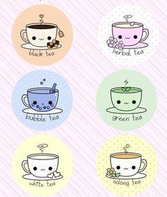 black tea, herbal tea, bubble tea, green tea, white tea, oolong tea....