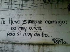 Te llevo #Acción #Poética