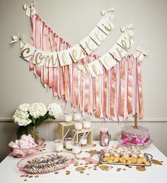 Sprinkles office party dessert table! See more party ideas at CatchMyParty.com!