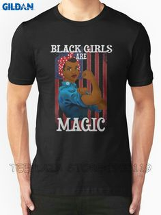 >> Click to Buy << Gildan Teeplaza Bulk T Shirts Fashion Men Crew Neck Short-Sleeve Black Girls Are Magic Women Is Future T Shirts #Affiliate