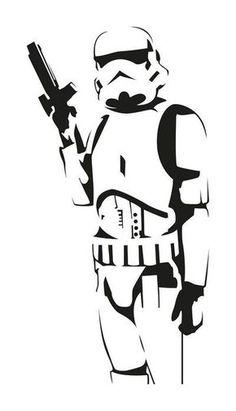 Badass Stormtrooper full Vector PDF file - Star Wars Stormtroopers - Ideas of Star Wars Stormtroopers - Star Wars Silhouette, Silhouette Art, Star Wars Stencil, Stencil Art, Stenciling, Anime Tatoo, Paar Illustration, Inkscape Tutorials, Star Wars Art
