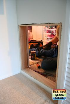 this is totally how you make wonderful family memories...a secret passage between closets for sisters!