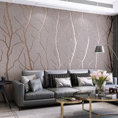 Modern simple line deerskin wallpaper thickened non woven fabric bedroom living room background wall 3D Wallpaper W152 Cheap Wallpaper, Wallpaper Decor, Painting Wallpaper, 3d Wallpaper Living Room, Luxury Wallpaper, Brick Wallpaper, Adhesive Wallpaper, Wallpaper Roll, Living Room Tv Unit Designs