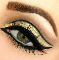 Egyptian inspired gold & black eye make up - more subtle than some looks...x