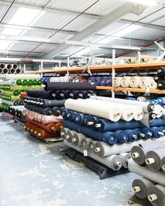 Infinite numbers of textile rolls at our textile mill Wooltex in northern England. Photo: Alastair Wiper