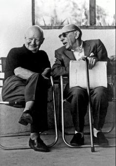 Paul Hindemith and Igor Stravinsky in Santa Fe, New Mexico, in 1961