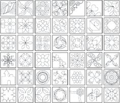 Unique Quilting Stencil Patterns Inspirations Quilting Stencil Patterns - This Unique Quilting Stencil Patterns Inspirations photos was upload on August, 30 2019 by admin. Here latest Quilting Ste. Quilting Stitch Patterns, Machine Quilting Patterns, Barn Quilt Patterns, Stencil Patterns, Quilt Stitching, Stitching Patterns, Design Patterns, Quilting Tips, Quilting Stencils