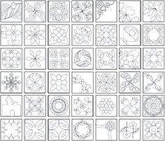 Quilt stencils | free hand quilting stencil patterns & templates.