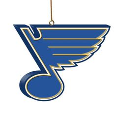 NHL St. Louis Blues 3D Logo Ornament by The Memory Company. $15.99. Honor your favorite team this holiday season by hanging this NHL® 3-D team logo ornament on your tree. This officially licensed ornament from The Memory Company has a hang loop, is decorated in the team colors and is made of durable resin.