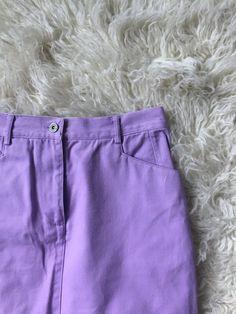 Purple Denim Maxi Skirt by littlewrensvintage on Etsy