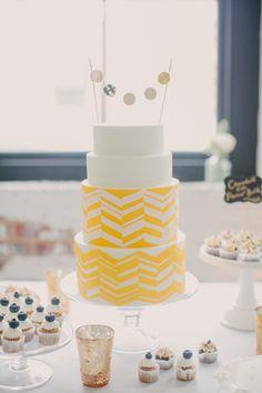 Make it modern with a chevron cake!