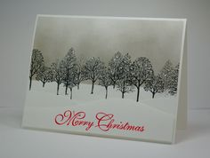 Lee Ann Barrett, Greyt Paper Crafts: A Retro Sketch for Christmas--Stampin' Up Lovely as a Tree and Greetings of the Season; Stamped Christmas Cards, Christmas Cards To Make, Noel Christmas, Xmas Cards, Holiday Cards, Handmade Christmas, Stamping Up Cards, Rubber Stamping, Winter Cards