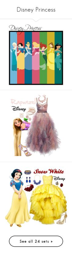 """Disney Princess"" by m-spirations ❤ liked on Polyvore featuring art, Emilio Pucci, Thalia Sodi, Red Camel, Accessorize, Dana Rebecca Designs, Disney, Isharya, Mikael D and Rock 'N Rose"