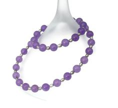 Purple Alexandrite and Pearl necklace  by Beadstorm Jewellery