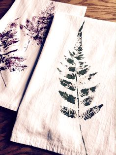 how to make fern printed tea towels, crafts, gardening