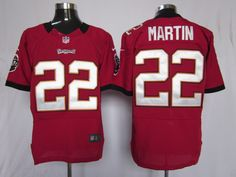 85479cb066d Mens Nike NFL Tampa Bay Buccaneers  22 Doug Martin Red Team Color Stitched  Elite Jerseys