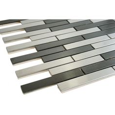 "5/8"" x 3 7/8"" Stainless steel & stainless steel bricks mosaic tile"