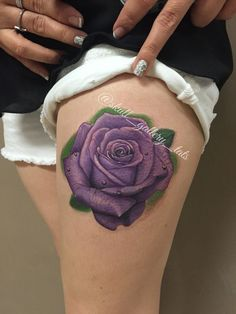 Purple rose tattoo | Tattoos | Pinterest | Purple rose tattoos Purple ...