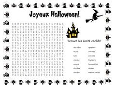 French - Halloween Vocabulary | Halloween vocabulary, Worksheets ...