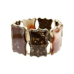 Georgian Agate Scalloped Plaque Bracelet