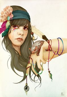 Vero Navarro's illustration. Fuck yeah Bat for Lashes