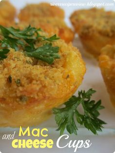 I made these as a side to meatloaf.  It was a fun twist to our regular mac and cheese.  Let's just say that my eight year old had five!  My kids loved them.  But then again what kid wouldn't like mac and cheese?Rating:  4 stars  Difficulty of Recipe: 3 stars How I changed it: I kept it …