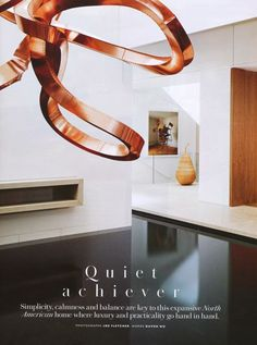 house interior | copper sculpture by hans schute