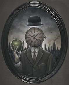 Clock art by Anthony Clarkson With clock that shows a midnight time my heart despair in tears. Can't hold no longer all the drive, that once was not in need. In need to speak, to show the truth. Clock Painting, Clock Art, Clocks, Dark Fantasy, Fantasy Art, Dark Artwork, Grandfather Clock, Arte Horror, Salvador Dali