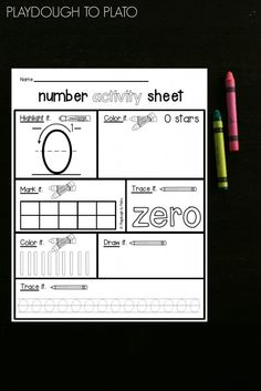 Number Activity Sheets - Playdough To Plato
