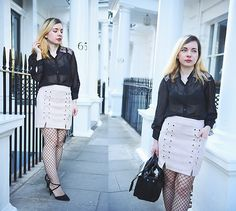 Get this look: http://lb.nu/look/8680069  More looks by Victoria Burbulea: http://lb.nu/user/264022-Victoria-B  Items in this look:  Light In The Box Skirt   #chic #retro #street #fishnet #suede #miniskirt #transparent #pastel #black
